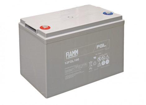 FIAMM 12FGL100 12V 100Ah (zselés) munka/szünetmentes/UPS akkumulátor