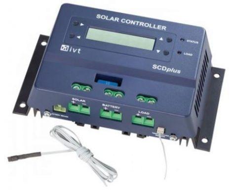 IVT SCDplus-40A 12V / 24V 40A PWM napelemes töltésvezérlő