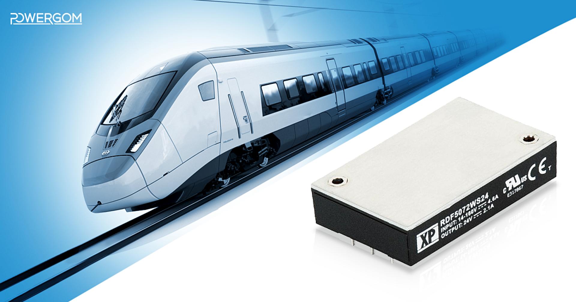 50W-os ultra széles bemeneti feszültségtartományú DC/DC konverterek vasúti alkalmazásokhoz